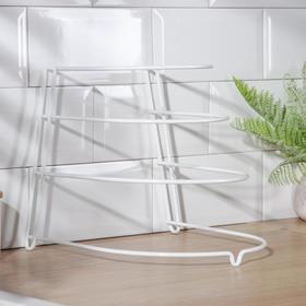 {{photo.Alt || photo.Description || 'Подставка для хранения сковородок настольная, 3 отделения, 23×24×27 см, цвет белый'}}