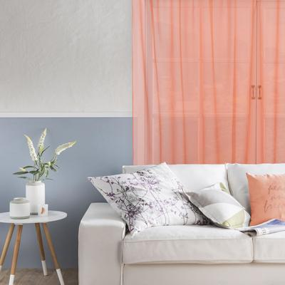 "Tulle ""Ethel"" 135*150 cm, color orange, Voile, 100% p/e"