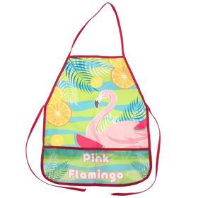 Фартук для труда, 490 х 390 мм, Pink Flamingo