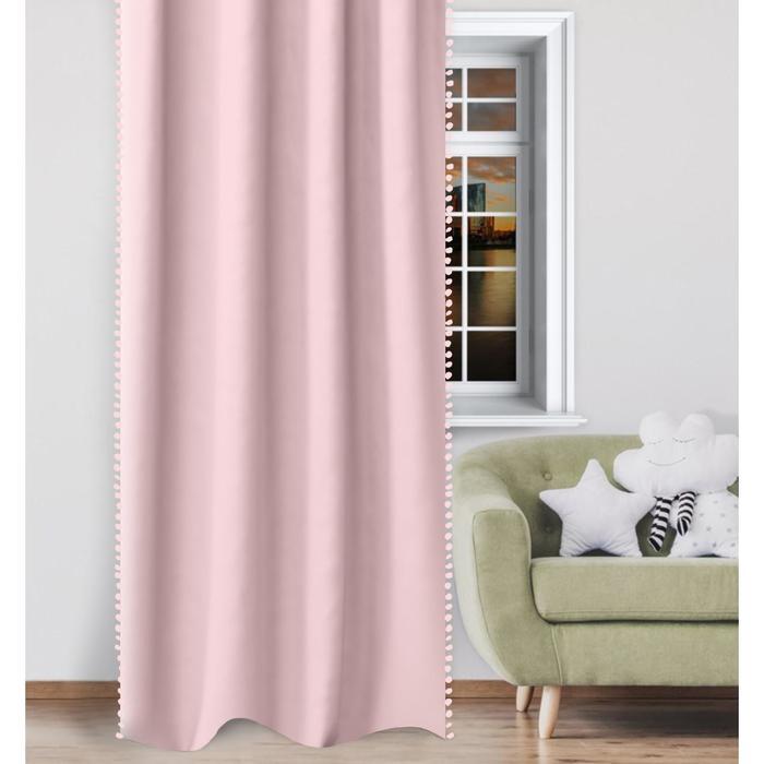 """Штора облегченная """"Этель"""", 145*260 см, розовый - фото 778459"""
