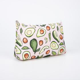 A simple cosmetic bag, 23*7*13, zippered otd, unlined, Avocado