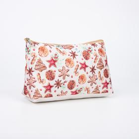 A simple cosmetic bag, 24*7*16, otd with zipper, without lining, Cookies