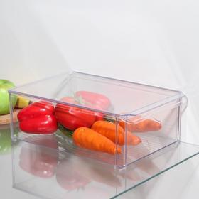 {{photo.Alt || photo.Description || 'Органайзер для холодильника с крышкой IDEA, 20×30×10 см, цвет прозрачный'}}