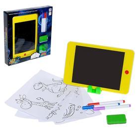 Планшет для рисования LCD с ручками, трафаретами, МИКС