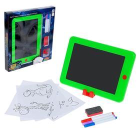 Планшет для рисования LED с ручками, трафаретами, МИКС