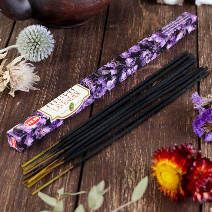 """Благовония """"HEM Precious Lavender"""" (Драгоценная лаванда), четырехгранник, 8 палочек"""