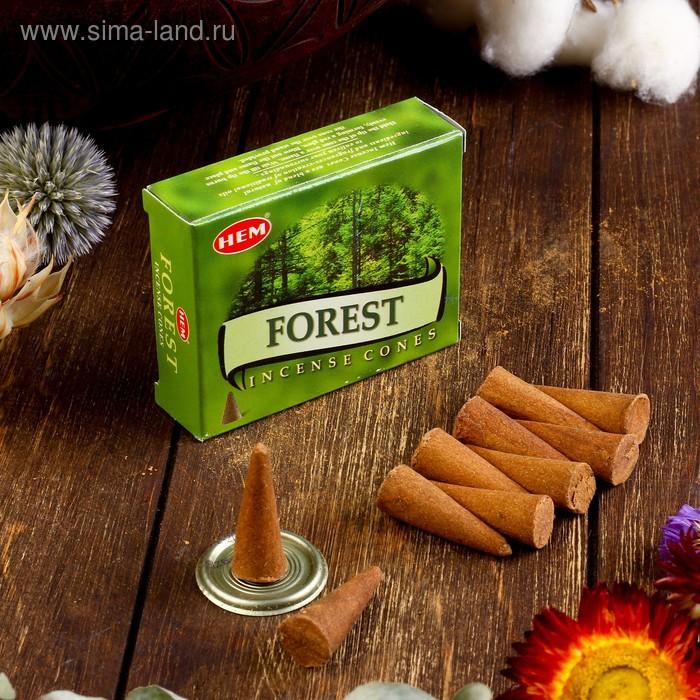 """Благовония """"HEM Forest"""" (Лес), 10 конусов"""