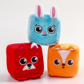 Развивающая игрушка - кубик для малыша «Зверята», МИКС
