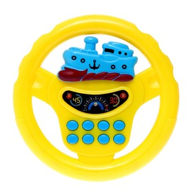 """Steering wheel musical """"Transport"""", light and sound effects, battery powered, MIX"""