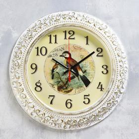 """Часы настенные  """"Птицы"""" d=35 см, плавный ход"""