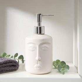 Дозатор для жидкого мыла «Тотем», 330 мл, цвет белый