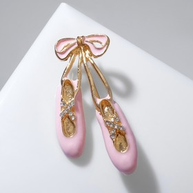Ballerina's Pointe brooch, white-pink in gold
