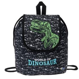 Мешок-рюкзак для обуви, с клапаном, 29 х 22 х 13.5 мм, «Оникс», СР-04, «Мир динозавров»