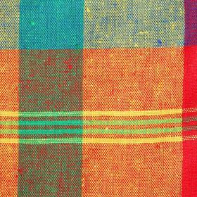 Ткань в клетку многоцветная, ширина 145 см