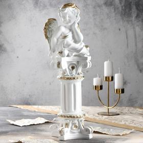 """Статуэтка """"Ангел на колонне"""", золотистый, 52 см"""