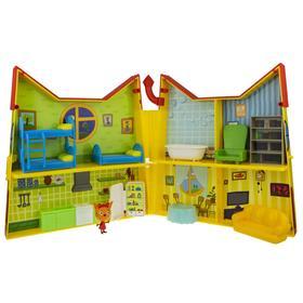 Игровой набор «Дом раскладной» 6 комнат, 14 предметов,1 фигурка-сюрприз