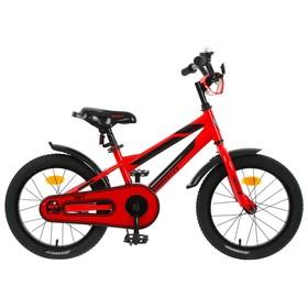 """Велосипед 16"""" Graffiti Deft, цвет красный/чёрный"""