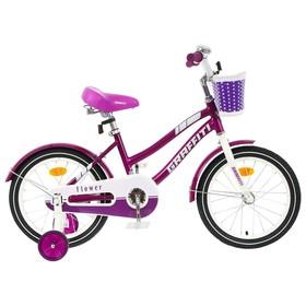 """Велосипед 16"""" Graffiti Flower, цвет сиреневый/белый"""
