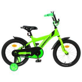 """Велосипед 16"""" Graffiti Spector, цвет неоновый зеленый"""