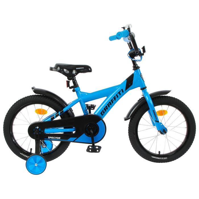 """Велосипед 16"""" Graffiti Spector, цвет неоновый синий"""