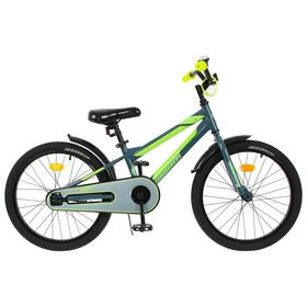 """Велосипед 20"""" Graffiti Deft, цвет серый/салатовый"""