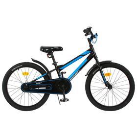 """Велосипед 20"""" Graffiti Deft, цвет черный/голубой"""