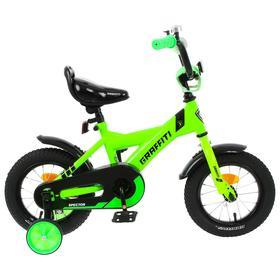 """Велосипед 12"""" Graffiti Spector, цвет неоновый зелёный"""