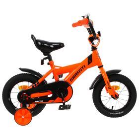 """Велосипед 12"""" Graffiti Spector, цвет неоновый красный"""