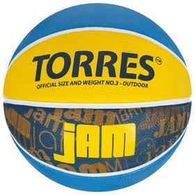 Мяч баскетбольный TORRES Jam, B02043, размер 3