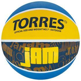 Мяч баскетбольный TORRES Jam, B02047, размер 7