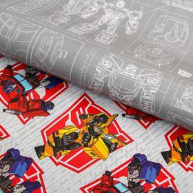 Бумага упаковочная глянцевая двусторонняя, Трансформеры, 60x90 см