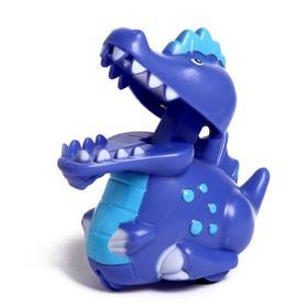 Игрушка инерционная «Динозавр», двигается от нажатия, МИКС