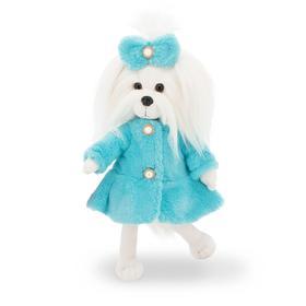 Мягкая игрушка Lucky Mimi, в бирюзовой шубе с каркасом 25 см