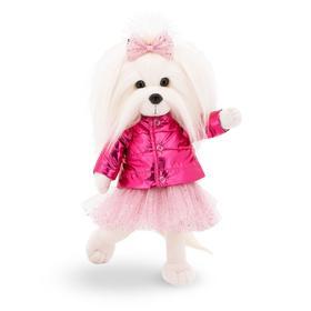 Мягкая игрушка Lucky Mimi, в розовом пуховике с каркасом 25 см