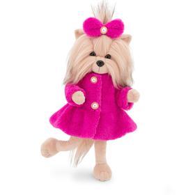 Мягкая игрушка Lucky Yoyo, в розовой шубе с каркасом 25 см