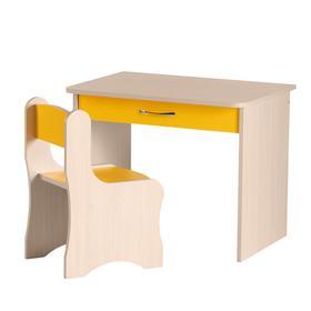 """Набор мебели """"Дошкольник""""  700х570х500 Дуб молочный/Желтый"""