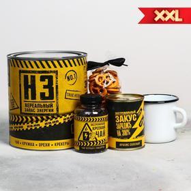 Подарочный набор «Нереальный запас энергии»: чай 50 г, кружка 350 мл, орехи 300 г, крекер 70 г