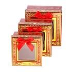 """Набор коробок 3 в 1 с окном """"С Новым Годом!"""""""