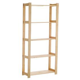 Стеллаж деревянный, 180×82×35 см, высота полки 40 см