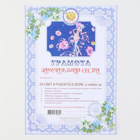 "Diploma ""to a Wonderful sister"""