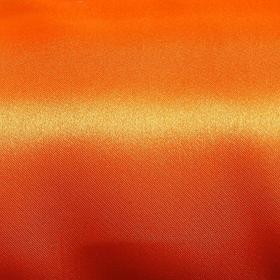 Ткань атлас однотонный оранжевый, ширина 150 см (100 пог. м)