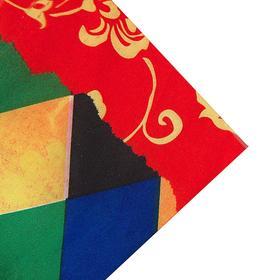 Ткань атлас цветные ромбы Арлекин (209 пог. м)