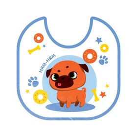 "Bib "" Pug "" waterproof with ties"