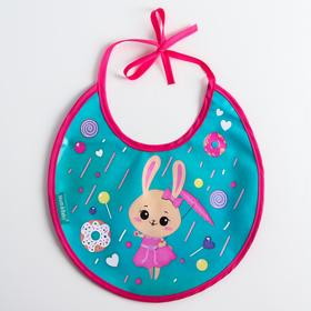 "Bib ""Bunny"" waterproof with ties"