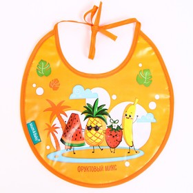 "Bib ""Bear Prince"" waterproof with ties"