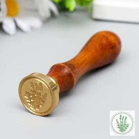 """Печать для сургуча с деревянной ручкой """"Водоросль"""" 9х2,5х2,5 см"""