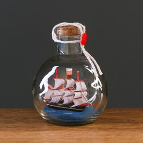 Корабль сувенирный, в бутылке, вертикальн. 9*10см