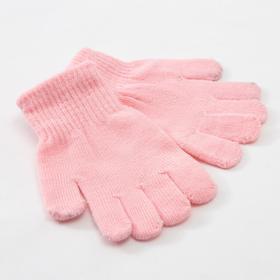 Перчатки детские MINAKU 'Однотонные',цв. светло-розовый, р-р 16 (10-12 лет) Ош