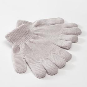 "Children's gloves MINAKU ""Plain"", color gray, r-r 16 (10-12 years old)"