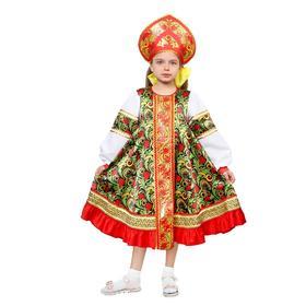 Русский народный костюм «Рябинка», платье, кокошник, р. 40, рост 152 см